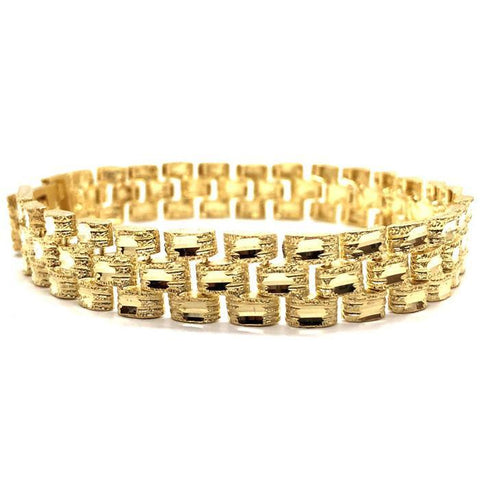10K 11MM Rolly Bracelet MB-001 - WORLDSTARBLING