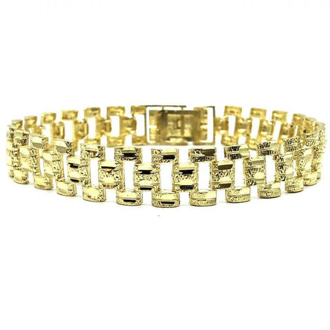 10K 12MM Rolly Bracelet MB-003 - WORLDSTARBLING
