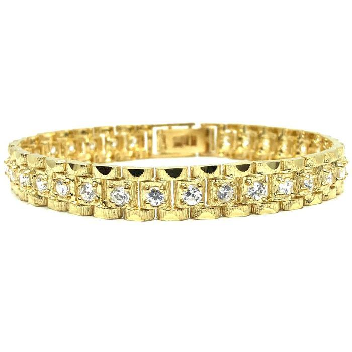10K 9MM Rolly Bracelet CZ MB-008 - WORLDSTARBLING