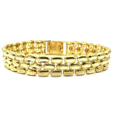 10K 11MM Panther Bracelet MB-009 - WORLDSTARBLING