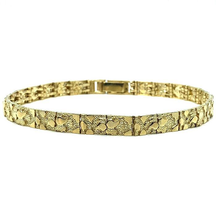 10K 5MM Nugget Bracelet MB-011 - WORLDSTARBLING