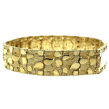 10K 14MM Nugget ID Bracelet MB-022 - WORLDSTARBLING