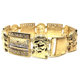 10K Yellow Gold 19MM The Last Supper of Jesus Bracelet MBG-029 - WORLDSTARBLING