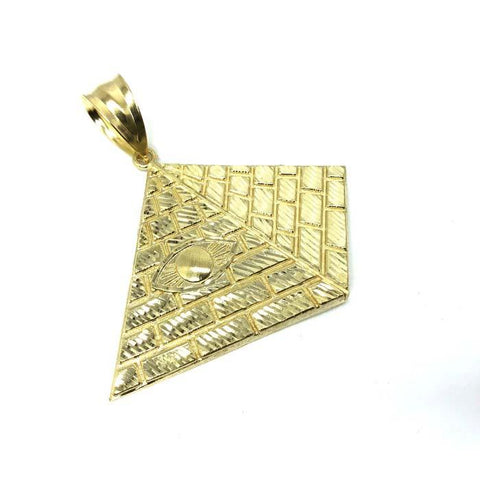 10K Yellow Gold Pyramid Pendant XL MPG-359 - WORLDSTARBLING