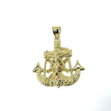 10 Karat Gold Anchor Men Pendant MPG-361 - WORLDSTARBLING