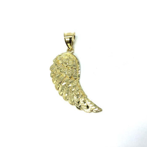 10K Yellow Gold Diamond Cut Angel Pendant L MPG-363 - WORLDSTARBLING