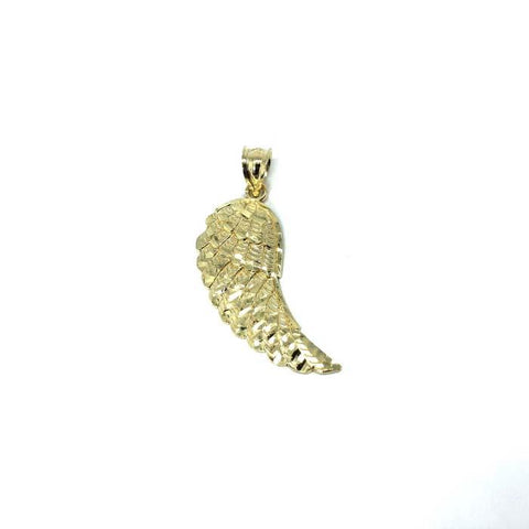 10K Yellow Gold Angel Wing Pendant MPG-365 - WORLDSTARBLING