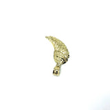 10K Yellow Gold Small Angel Wing With Diamond Cut MPG-366 - WORLDSTARBLING