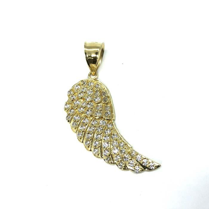 Angel Wing Pendant in 10K Gold with Zircons M MPG-367 - WORLDSTARBLING