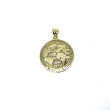 10K Yellow Gold The Wolrd Is Yours Globe Pendant XS MPG-371 - WORLDSTARBLING