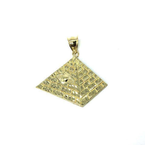 10K Yellow Gold Pyramid Men's Pendant M MPG-373 - WORLDSTARBLING
