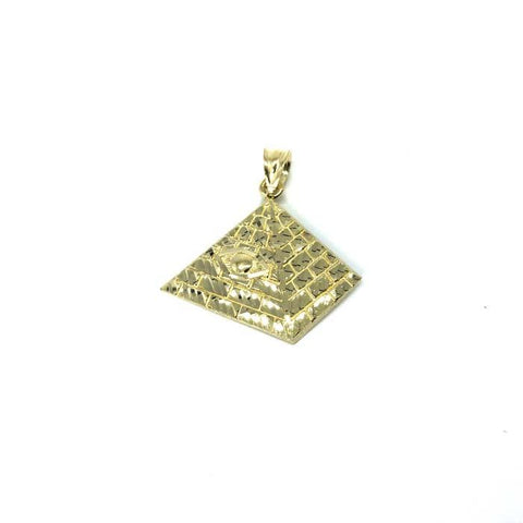 10K Yellow Gold Pyramid Pendant S MPG-374 - WORLDSTARBLING