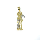 10K Yellow Gold and 10K White Gold Grim Reaper Pendant L MPG-380 - WORLDSTARBLING