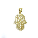 10K Yellow Gold Prayer Hands Men's Pendant  MPG-381 - WORLDSTARBLING