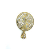 10K Yellow Gold Globe Pendant with Zircons MPG-382 - WORLDSTARBLING