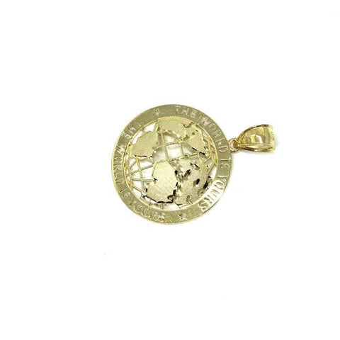 10K Yellow Gold Scarface Pendant L MPG-383 - WORLDSTARBLING