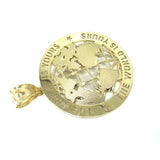 10K Yellow Gold The World Is Yours Globe Pendant XXL MPG-385 - WORLDSTARBLING