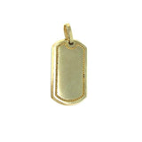 10K Yellow Gold Dog Tag Pendant MPG-396 - WORLDSTARBLING