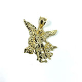 Men's Gold Angel Pendant MPG-398 - WORLDSTARBLING
