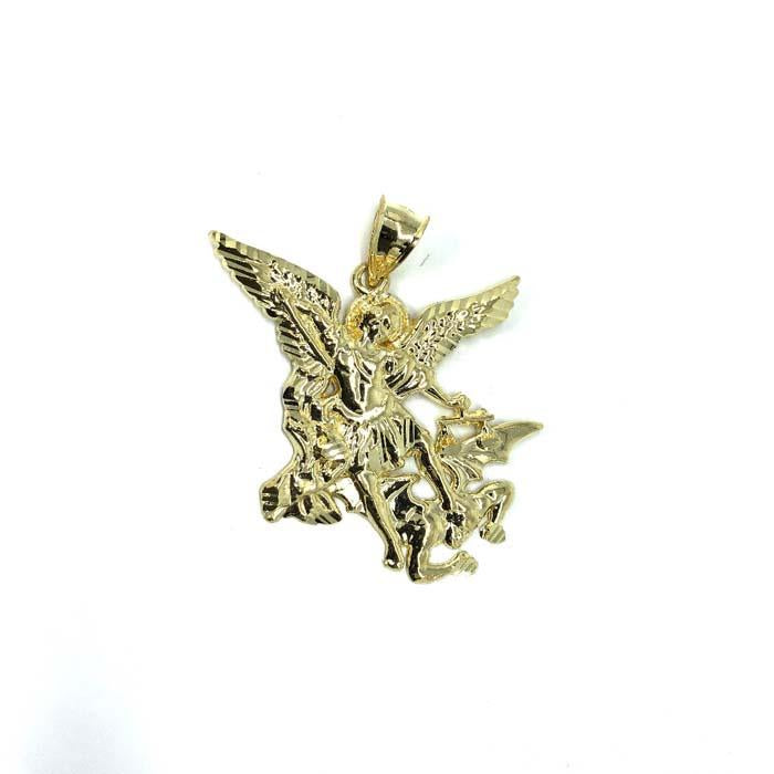 10K Yellow Gold Angel Pendant L MPG-399 - WORLDSTARBLING