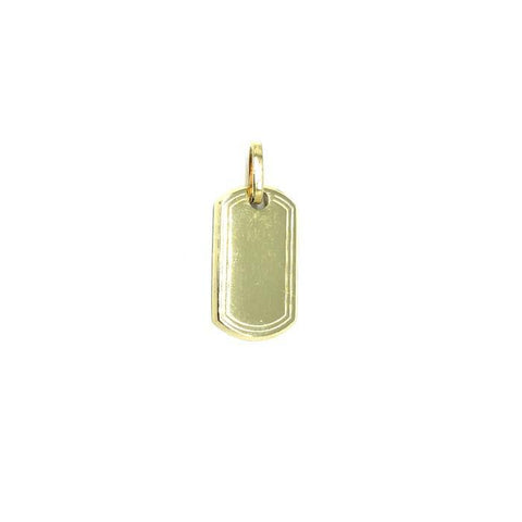 10K Dog Tag Yellow Gold Pendant S MPG-403 - WORLDSTARBLING