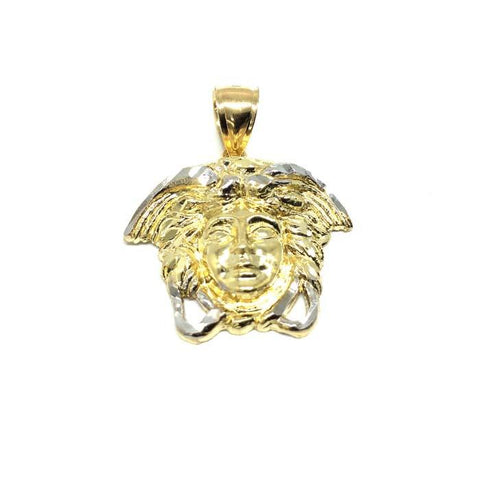 10K Yellow Gold Medusa Men's Pendant M MPG-406 - WORLDSTARBLING