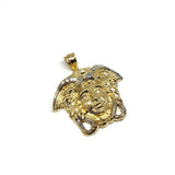 10K Yellow Gold Medusa Pendant L MPG-407 - WORLDSTARBLING