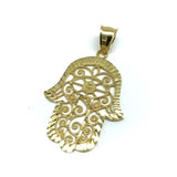 10K Yellow Gold Fatima Hands Pendant XL MPG-409 - WORLDSTARBLING
