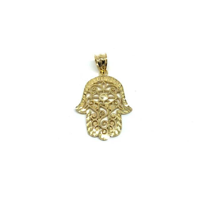 10K Gold Pendant Hands Of Fatima S MPG-410 - WORLDSTARBLING