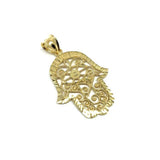 10K Yellow Gold Hands Of Fatima Men's Pendant L MPG-412 - WORLDSTARBLING