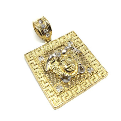 10K yellow gold versatchi Men's pendant L MPG-413 - WORLDSTARBLING