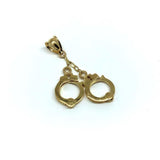 10K Yellow Gold Handcuff Men's Pendant MPG-414 - WORLDSTARBLING