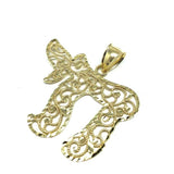 Yellow Gold Men's Pendant Chai 10 Karats XL MPG-417 - WORLDSTARBLING