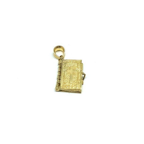 10K Yellow Gold Bible Men's Pendant MPG-421 - WORLDSTARBLING
