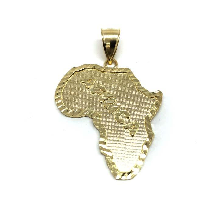 10K Gold Pendant Map Of Africa L MPG-427 - WORLDSTARBLING