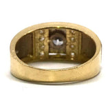 10K Yellow Gold 2-Tone Ring MRG-182 - WORLDSTARBLING