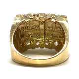 10K Yellow & White Gold The Last Supper 8Czs Ring MRG-203 - WORLDSTARBLING