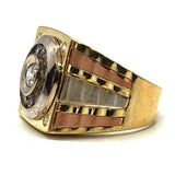 buy three toned gold ring