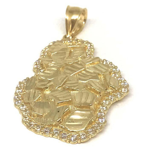 10K Yellow Gold Nugget Pendant NUG_001 - WORLDSTARBLING
