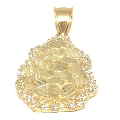 10K Yellow Gold Nugget Pendant NUG_002 - WORLDSTARBLING
