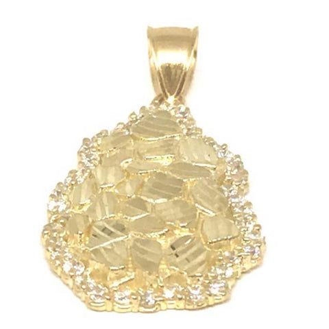 10K Yellow Gold Nugget Pendant NUG_003 - WORLDSTARBLING