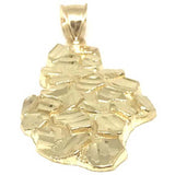 10K Yellow Gold Nugget Pendant NUG_004 - WORLDSTARBLING