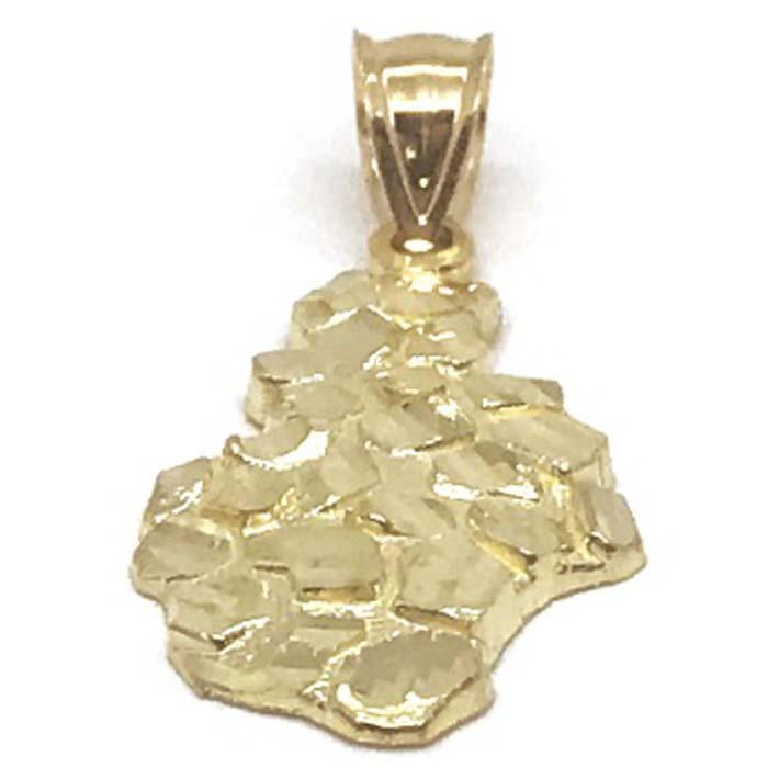 10K Yellow Gold Nugget Pendant NUG_006 - WORLDSTARBLING
