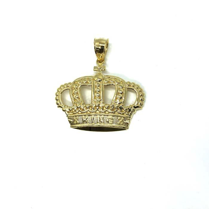 10K King Crown Gold Pendant | Gold Pendant | RGP-002 - WORLDSTARBLING