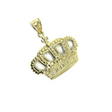 10K Yellow Gold King Crown Pendant RGP-007 - WORLDSTARBLING