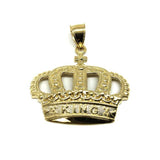10K King Crown Gold Pendant RGP-008 - WORLDSTARBLING