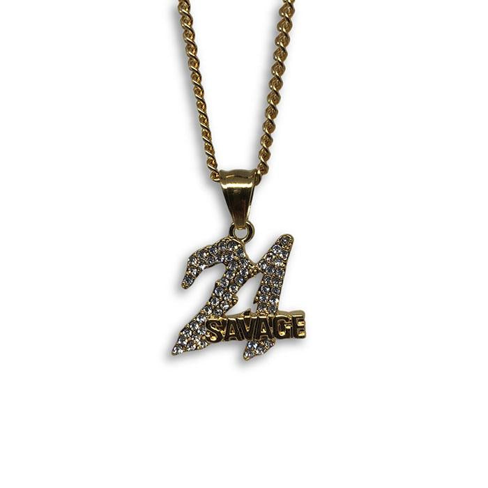 24IN 3MM CHAIN WITH SAVAGE PENDANT STL_038 - WORLDSTARBLING