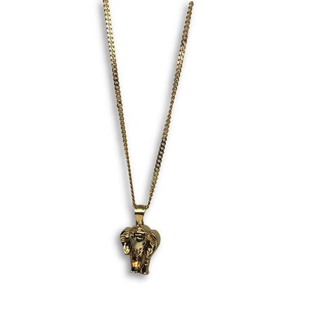 24IN 3MM CHAIN WITH ELEPHANT PENDANT STL_048 - WORLDSTARBLING