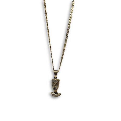 24IN 3MM CHAIN WITH PHARAOH PENDANT STL_060 - WORLDSTARBLING