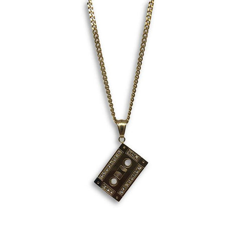 24IN 3MM CHAIN WITH CASSETTE PENDANT STL_065 - WORLDSTARBLING